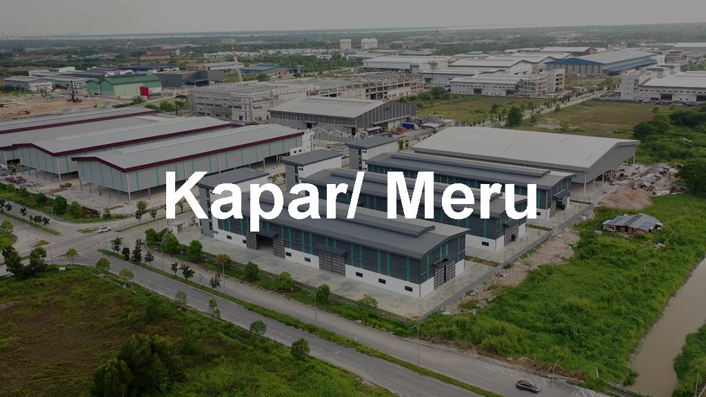 Warehouses for Rent in Kapar & Meru